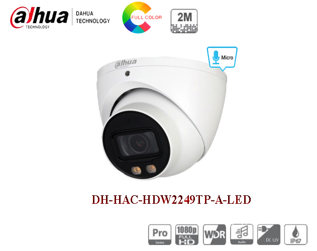 Camera 2MP Full - Color Starlight DH-HAC-HDW2249TP-A-LED