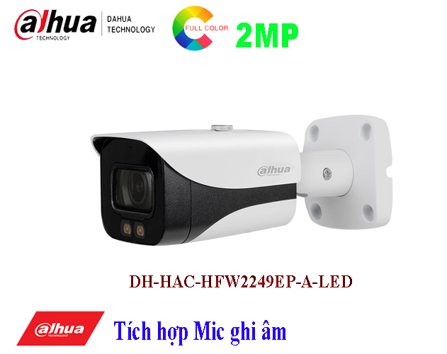 Camera 2MP Full - Color Starlight DH-HAC-HFW2249EP-A-LED