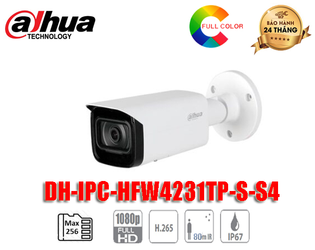 Camera IP DAHUA 2MP Starlight - DH-IPC-HFW4231TP-S-S4
